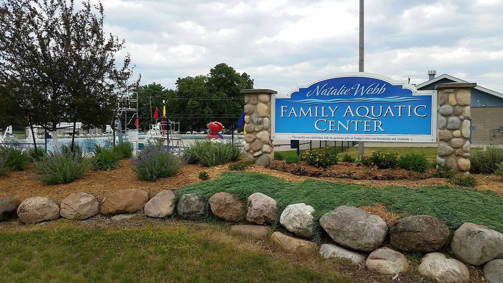 Aquatic Center Sign